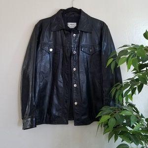 Bally Leather Moto Jacket